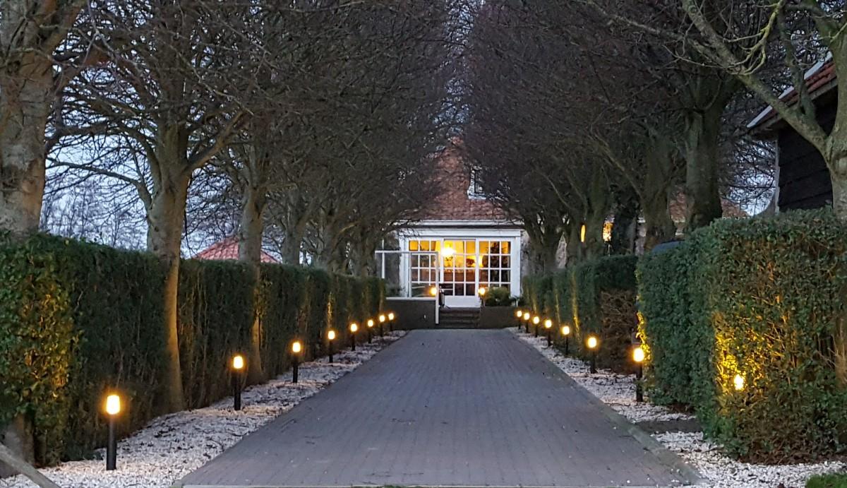 tuinverlichting-verlichting van een oprit