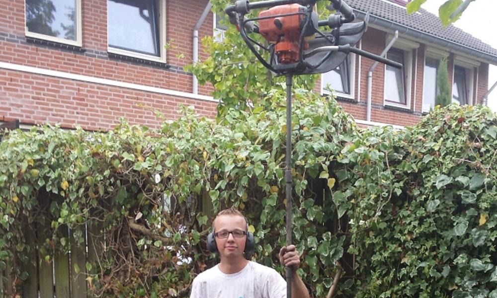 Verticale Drainage Tuin : Waterafvoer drainage trampoline inbouwen