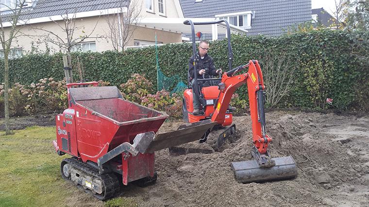De tuin aanleggen met grondwerk verzetten